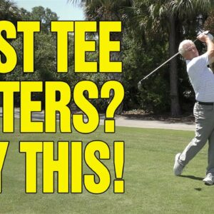 AN EASY TECHNIQUE TO CALM FIRST TEE NERVES (REALLY WORKS)!!