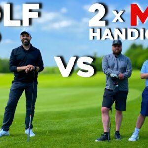 GOLF PRO Vs 2 MID HANDICAP golfers (Texas scramble)