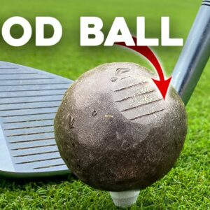 Golf with a WOODEN ball - UNEXPECTED results!