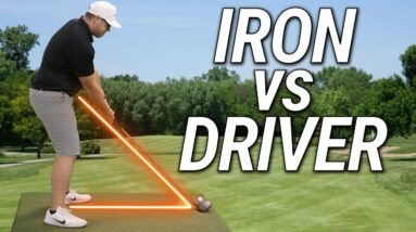 How To Stand Correctly To The Golf Ball   Iron vs Driver