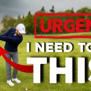 I had a Golf Lesson | REALLY need to fix this problem