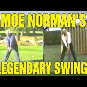 MOE NORMAN GOLF SWING ANALYSIS (SLOW MOTION + INSTRUCTION)!!