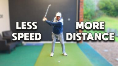 Swing SLOWER but hit the golf ball FURTHER. 99% of the BEST golfers do THIS!!!