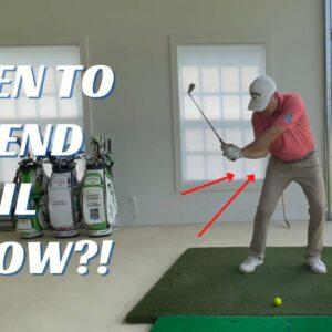 PERFECT RIGHT ELBOW MOVE IN THE DOWNSWING AND THROUGH THE BALL!