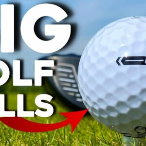 Playing golf with BIG balls...is BIGGER easier?