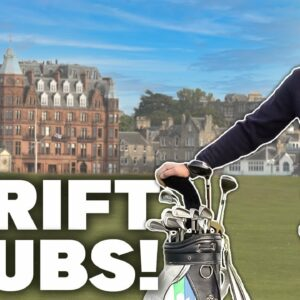 Playing St Andrews with THRIFT SHOP clubs - CRAZY 7.5º driver & 1 iron!