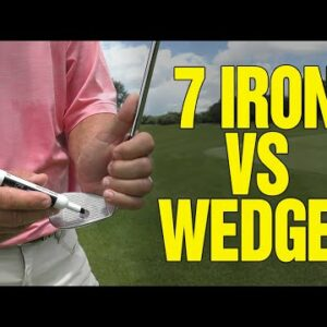 SHOULD YOU CHIP WITH A 7 IRON OR A WEDGE???