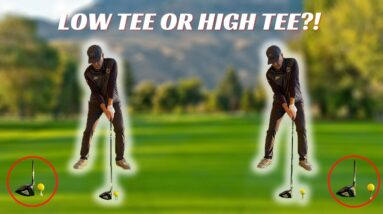 PERFECT YOUR DRIVER SET UP!  LOW TEE less side bend or HIGH TEE more side bend