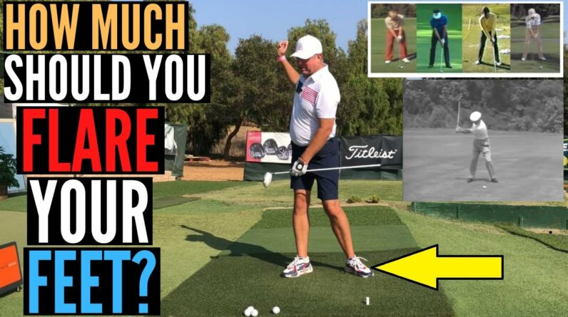 The SECRET to Flaring Your Feet in Your Golf Swing