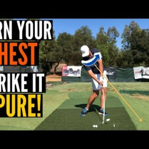 Turn Your Chest Past the Ball and Strike It PURE!
