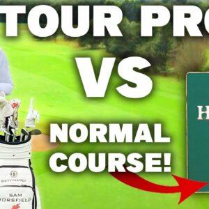 What will a TOUR PRO golfer score around a public course?