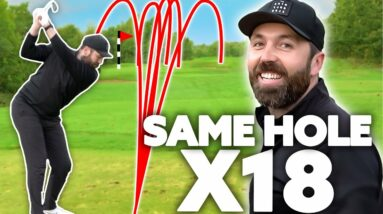 Playing the same golf hole 18 times in a row!