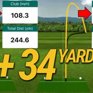 Swing SLOWER and Hit The Golf Ball FARTHER