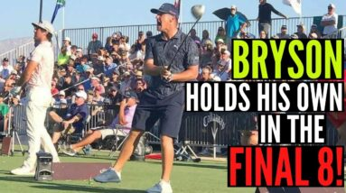 Bryson HOLDS HIS OWN in the Final 8 of the World Long Drive Championship!